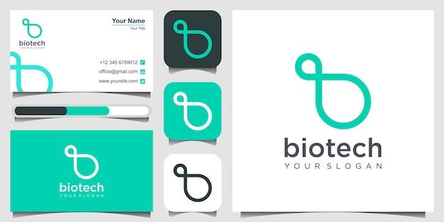 Anfangsbuchstaben b mit loop-konzept-logo mono-line-konzept loops-logo