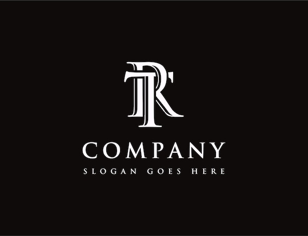 Anfangsbuchstaben-logo t und r, tr rt-monogramm-logo-symbol