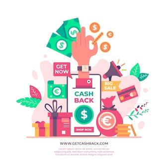 Angebot für cashback-konzept