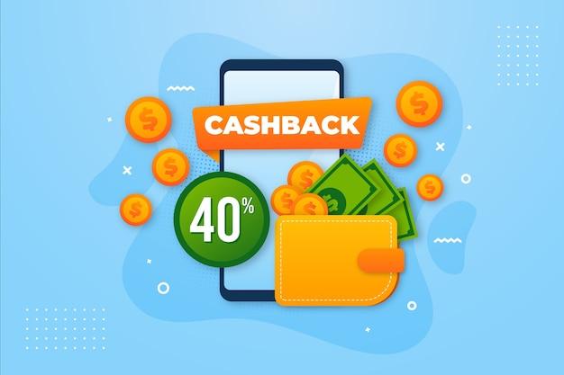 Angebot für cashback-konzeption