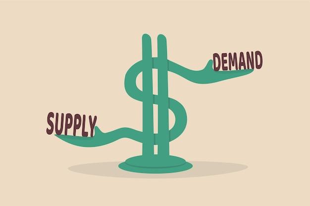 Angebot und nachfrage, wirtschaftliches modell der preisermittlung in einem kapitalmarktkonzept