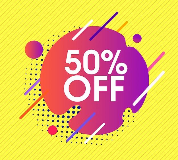 Angebot verkauf banner 50% rabatt