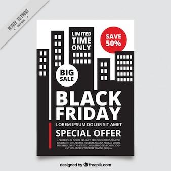 Angebote black friday broschüre mit gebäude-design