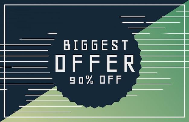 Angebote und rabatt banner-design für ihre werbung