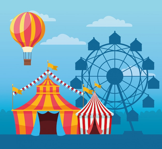 Angemessenes festival mit lustiger anziehungskraft