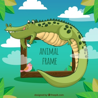 Angenehmer krokodil rahmen