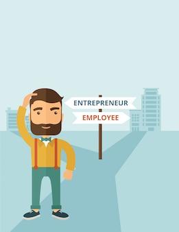 Angestellter zum unternehmer