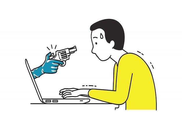 Angriff auf cyberkriminalität