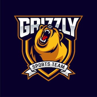 Angry bears maskottchen logo
