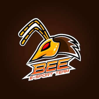 Angry bee esport maskottchen logo design