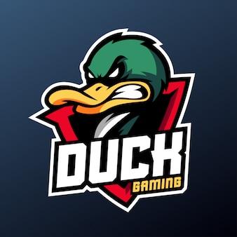 Angry ente für sport- und esport-logo