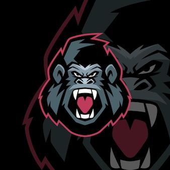 Angry gorilla esports logo-vorlagen
