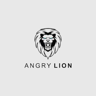 Angry lion head logo für jedes unternehmen
