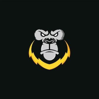 Angry monkey logo vektor