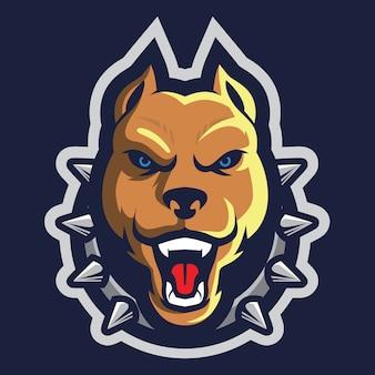 Angry pit bull esport logo illustration
