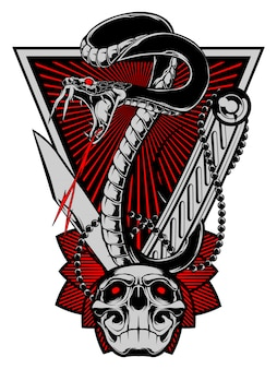 Angry snake illustration