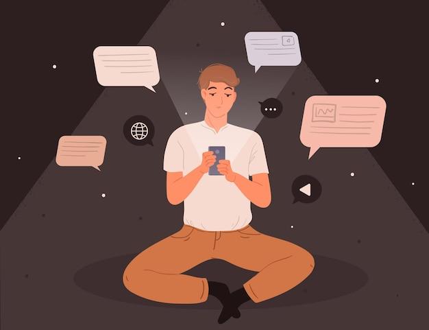 Angst, das konzept mit dem smartphone zu verpassen