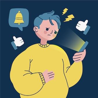 Angst, konzeptmann am telefon zu verpassen
