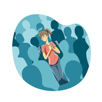 Angst vor menschenmengen oder agoraphobie