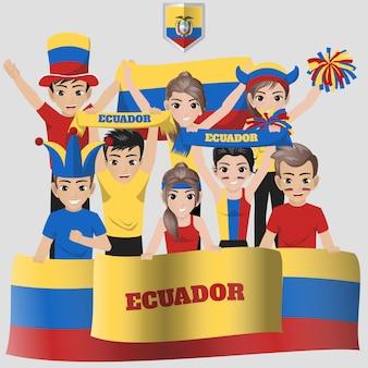 Anhänger der ecuadorianischen fußballnationalmannschaft für den amerikanischen wettbewerb