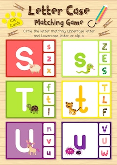 Animal clip karten matching spiel des briefkastens