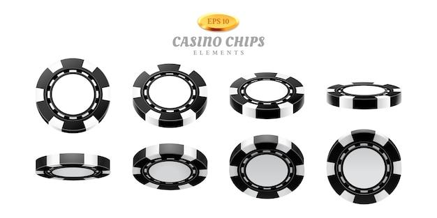 Animations-sprites für realistische casino-chips