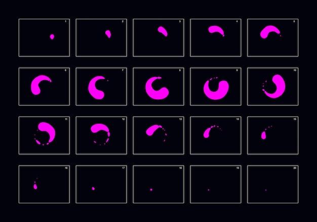 Animationsexplosionseffekt frame für frame