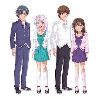Anime manga-gruppe