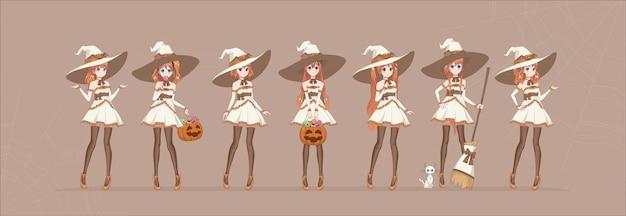 Anime manga mädchen zeichentrickfiguren