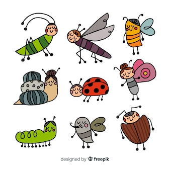 Animierte insektensammlung
