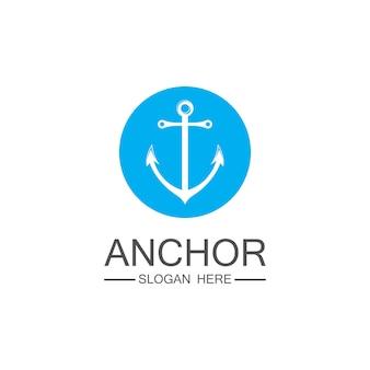 Anker logo vorlage vektor symbol design