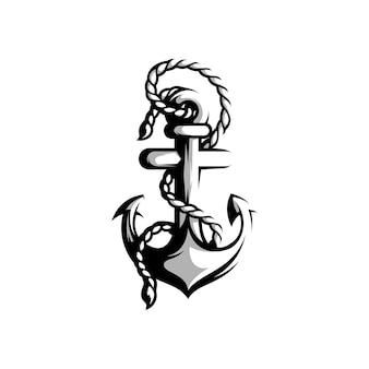 Ankerdesign schwarz und weiß