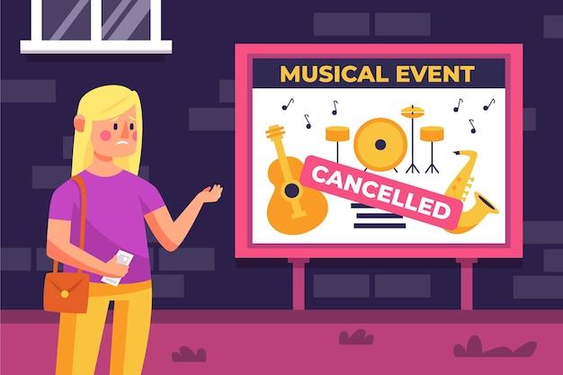 Ankündigung eines bandkonzerts abgesagt