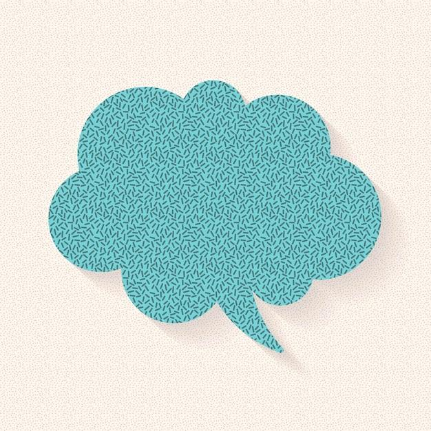 Ankündigungsspracheblasenvektordesign, papiermusterdesign