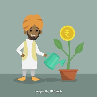 Anlagekonzept der indischen rupie