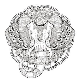 Anmutiger elefant malvorlagen im exquisiten stil