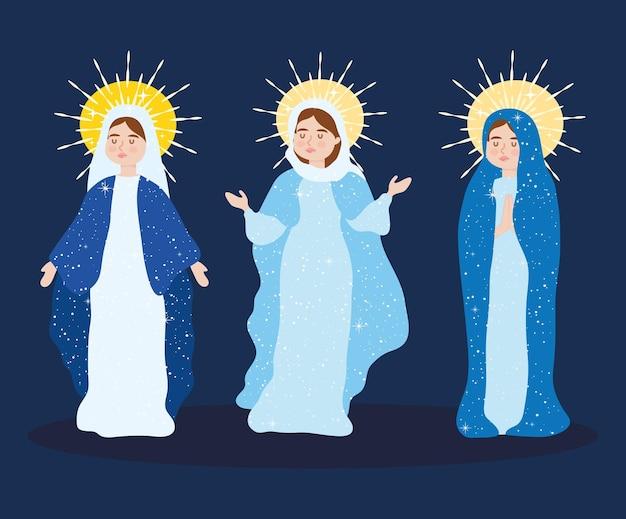 Annahme der jungfrau maria set