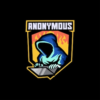 Anonymer gamer hacker dark thief spionageangriff