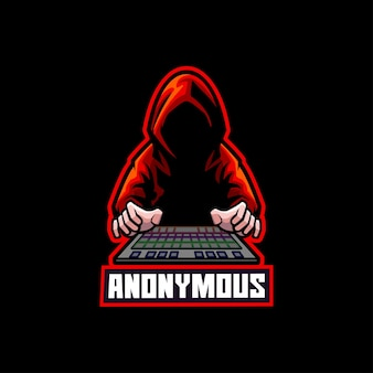 Anonymer hacker internetdieb hacking