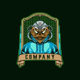 Anonymes hacker owl logo vintage