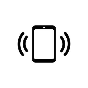 Anrufendes telefonsymbol in schwarz. vektor-eps 10. getrennt auf weißem hintergrund.