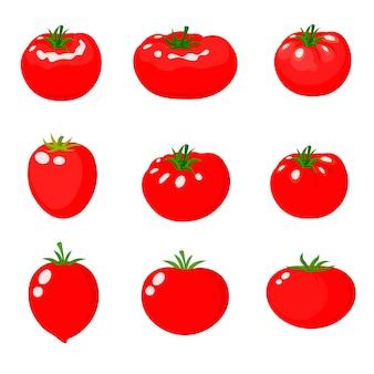 Ansammlung frische rote tomaten