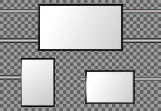 Anschlagtafelstraße veröffentlichen leere vektormodellfahne