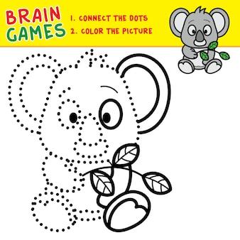 Anschließen der punkte malvorlagen gehirn spiele für kinder kinder aktivität