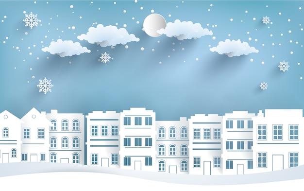 Ansichten des hauses im winter.
