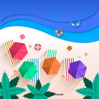 Ansichtpapierart des strandes von oben