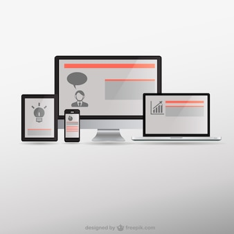 Ansprechende web-design elektronischer geräte