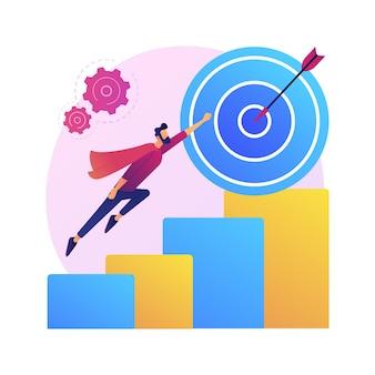 Anspruch, ehrgeiz, verfolgung. karrieremotivation, startup. idee zur beruflichen weiterentwicklung.
