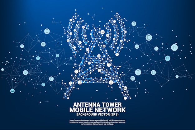 Antennenturm-symbol