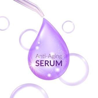 Anti aging serum hautpflege kosmetik
